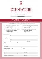 Dossier d'admission faculté d'Étiopathie Toulouse